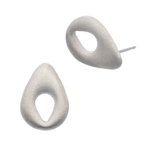 Penelope Stud Earring. Made from Pewter. Made in Fredericton NB New Brunswick Canada