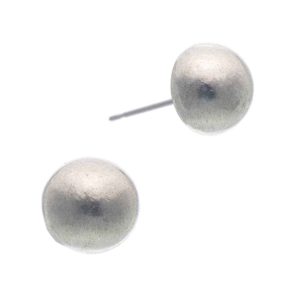 Pewter Pearl Stud Earring. Made from Pewter. Made in Fredericton NB New Brunswick Canada