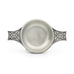 Small Celtic Quiche top view. Satin Finish. Made from Pewter. Made in Fredericton NB New Brunswick Canada