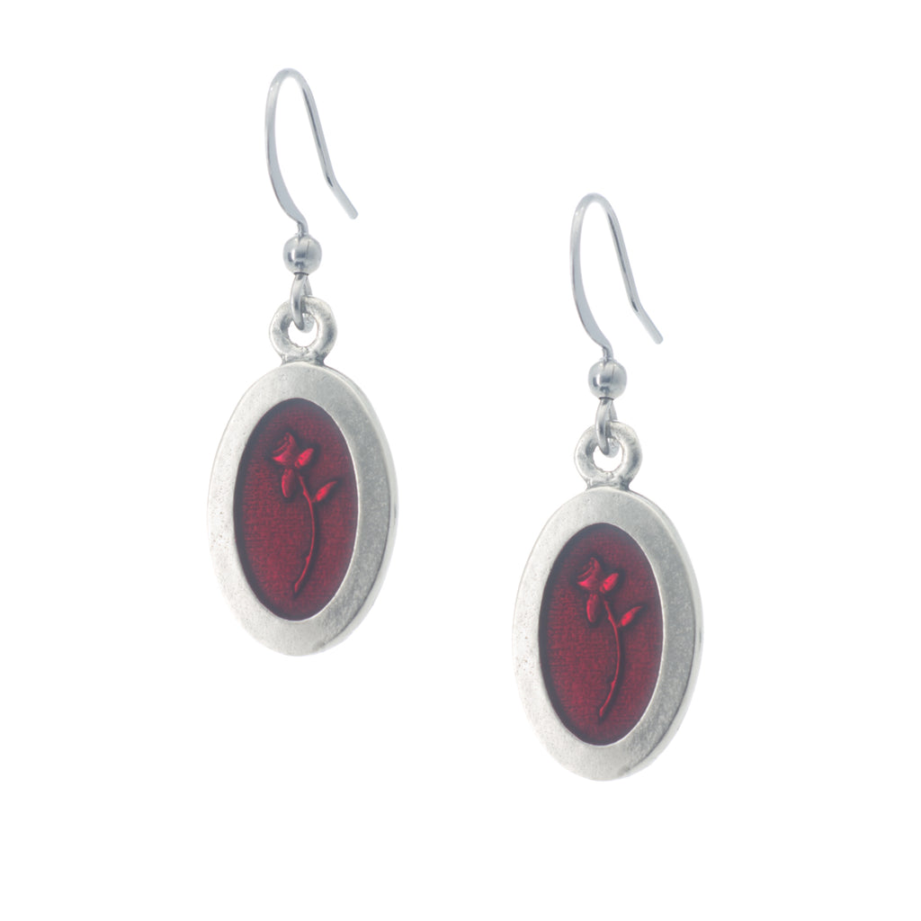 Scarlett Earring. Made from Pewter. Made in Fredericton NB New Brunswick Canada
