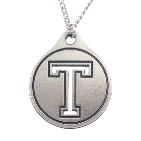 Saint Thomas University Pendant. STU. Made from Pewter. Necklace. Made in Fredericton NB New Brunswick Canada