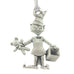Santa's Elf Christmas Tree ornament. Santa's Village series. Made from Pewter. Silver ribbon. Made in Fredericton NB New Brunswick Canada