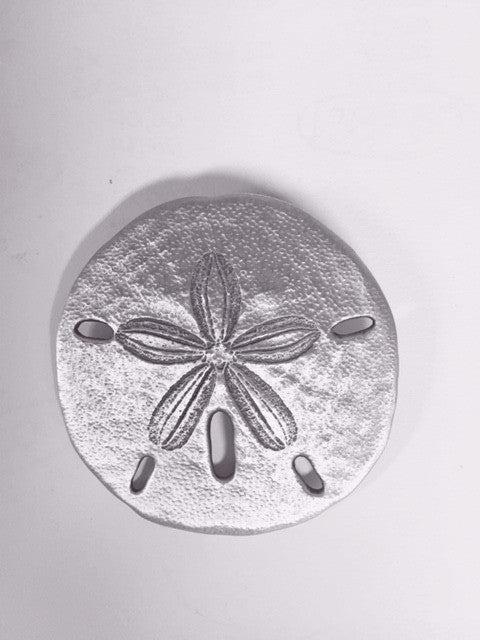 Sand Dollar Pewter  Brooch