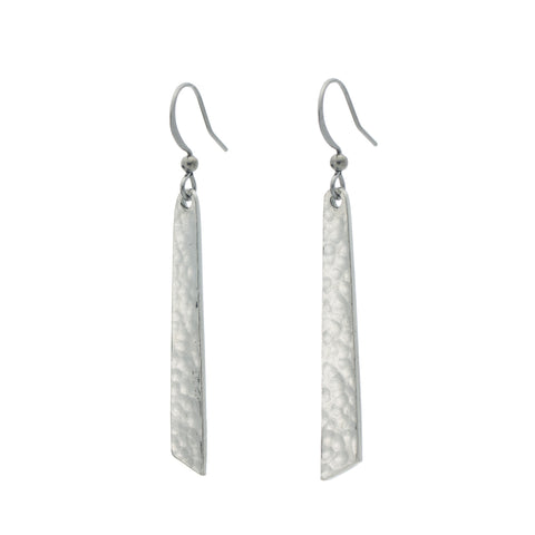 Single Drop Earrings. Made from Pewter. Made in Fredericton NB New Brunswick Canada