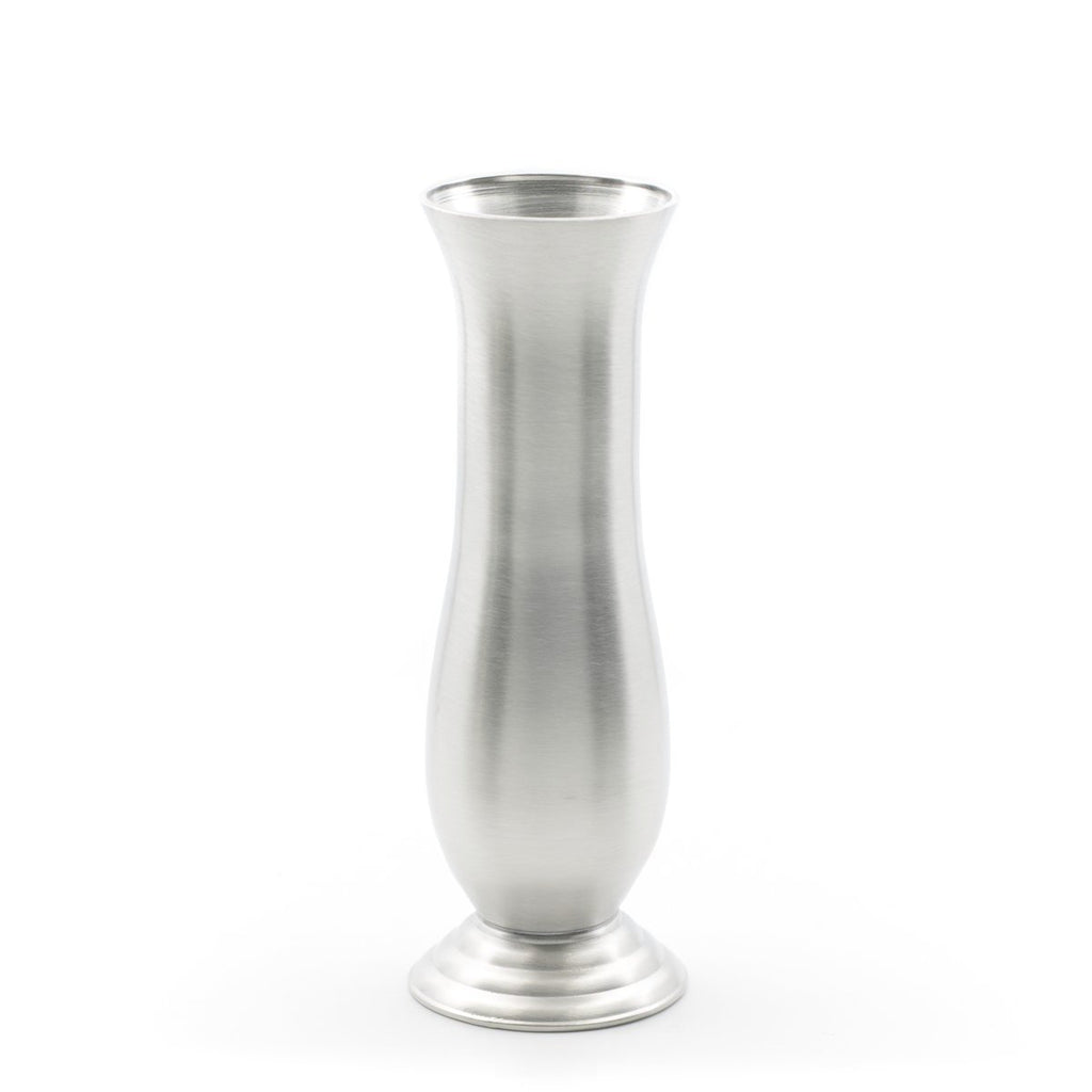 Tiffany Vase. Satin finish. Made from Pewter. Made in Fredericton NB New Brunswick Canada
