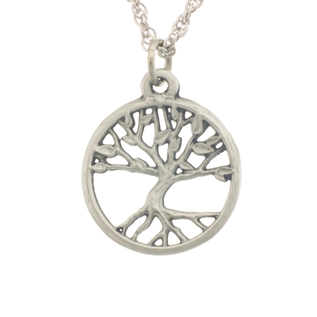 Tree of Life Pendant. Satin finish. Made from Pewter. Necklace. Made in Fredericton NB New Brunswick Canada