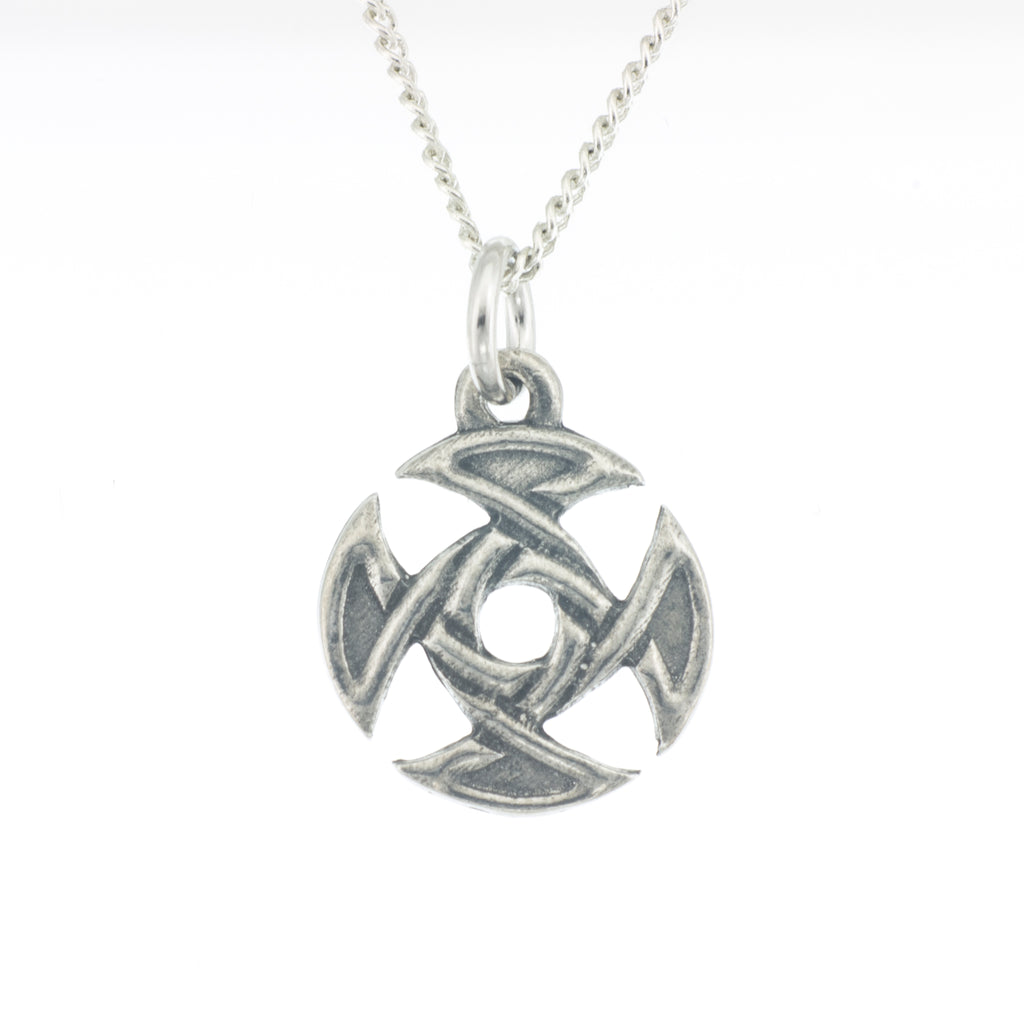 Treasa Pendant. Celtic. Made from Pewter. Necklace. Made in Fredericton NB New Brunswick Canada