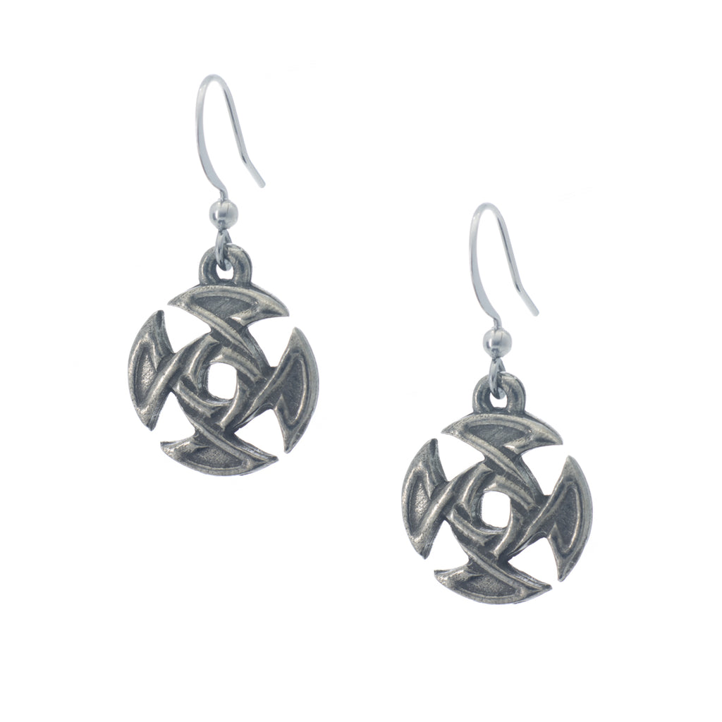Treasa Earring. Celtic. Made from Pewter. Made in Fredericton NB New Brunswick Canada