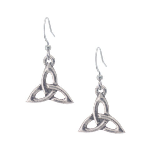 Trinity Knot Earring. Celtic. Irish. Made from Pewter. Made in Fredericton NB New Brunswick Canada