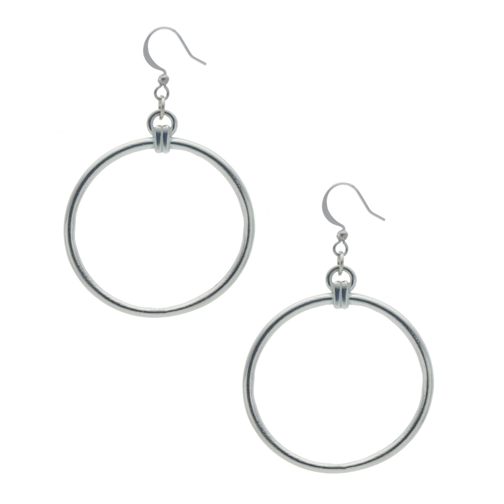 Unity Hoop Earring. Made from Pewter. Made in Fredericton NB New Brunswick Canada