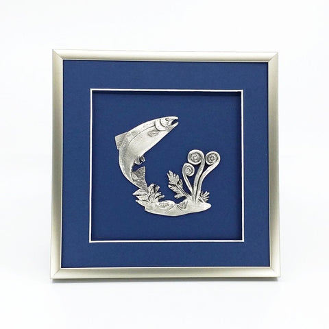 Framed Salmon & Fiddlehead Crest