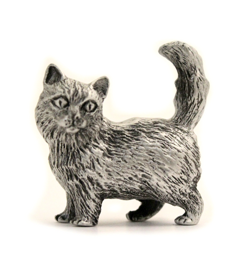 pewter himalayan cat miniature figurine