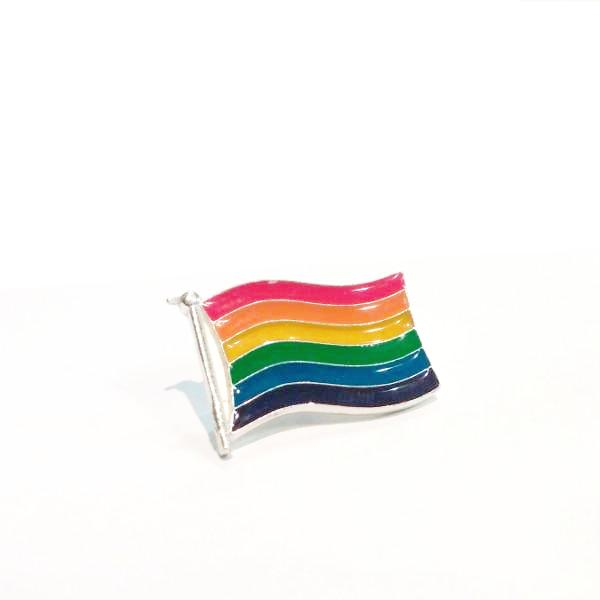 Pride Flag Enamel Pewter Lapel Pin