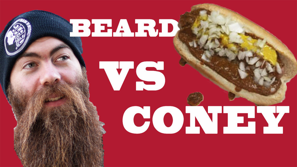 Can Jon eat a Coney Dog with his massive beard?