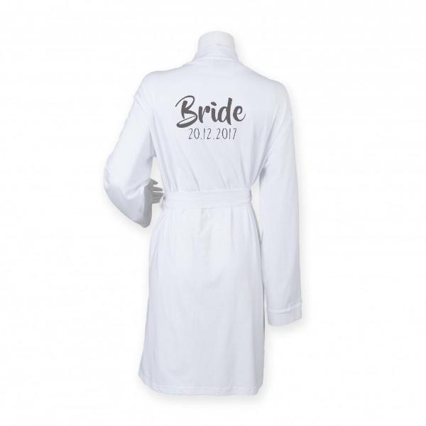 Cotton Wedding Floral Dressing Gowns Wrap Robes for Bride ...