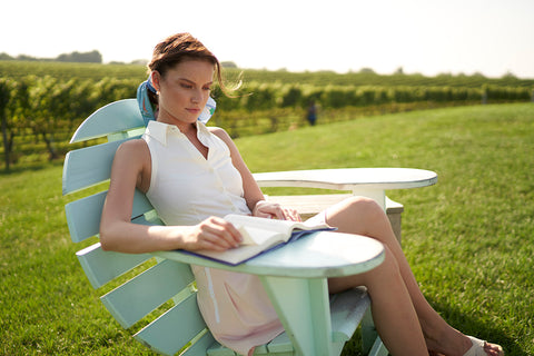 Hedge Tennis Summer Reading List pictured here at Wolffer Vineyards
