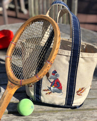 mini hand painted tote for chic platform tennis style