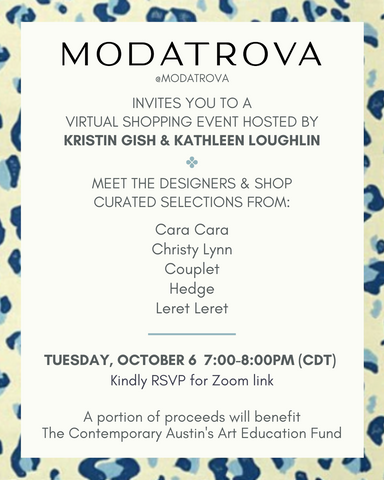Austin Texas Modatrova Trunk show invitation: Hedge: Luxury Tennis and golf attire