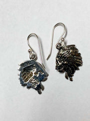 925 P/Silver W.C Jungle Chief Womens Earrings