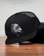 War Chief Foam Trucker Black - Snap back