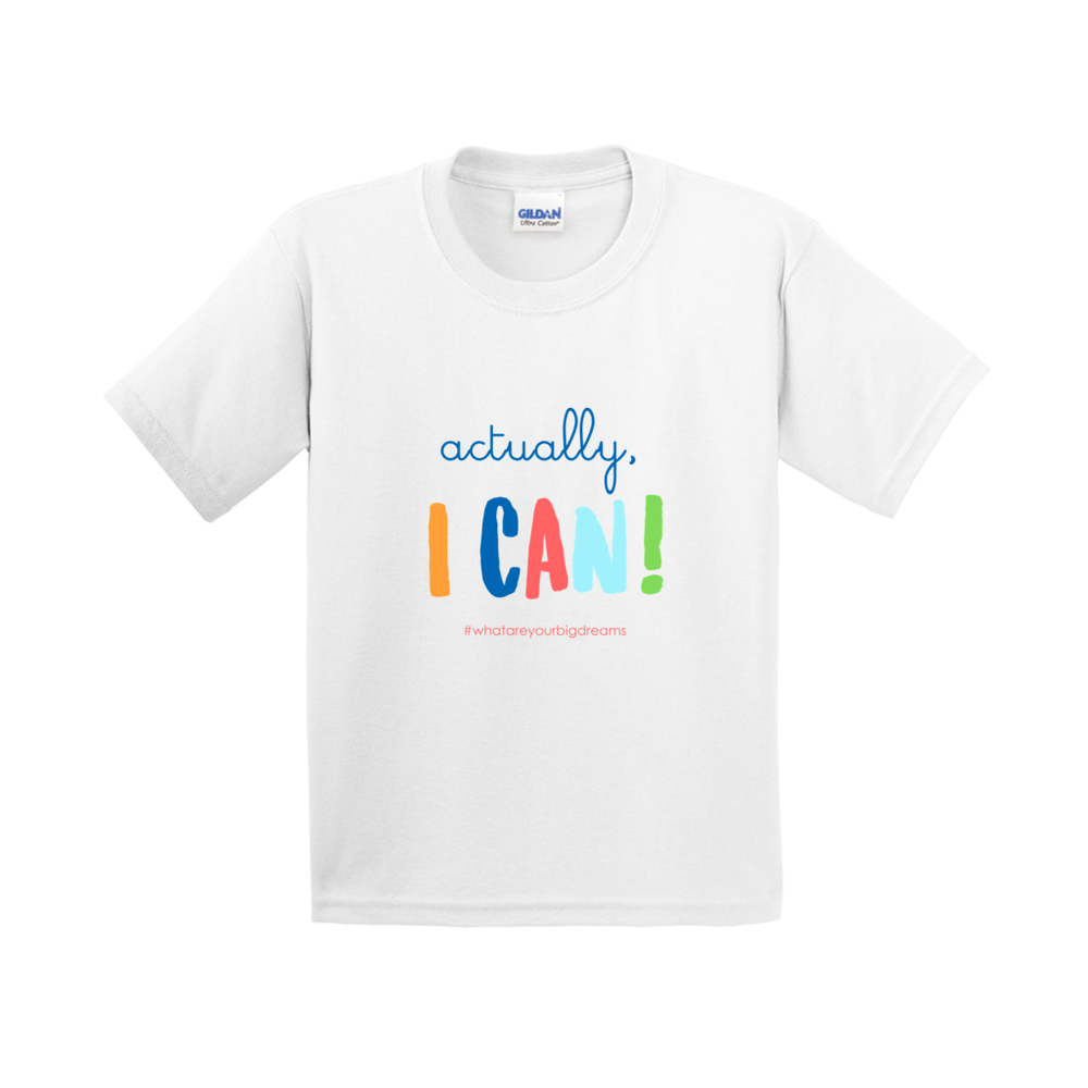 T-Shirt - Actually, I Can! - White