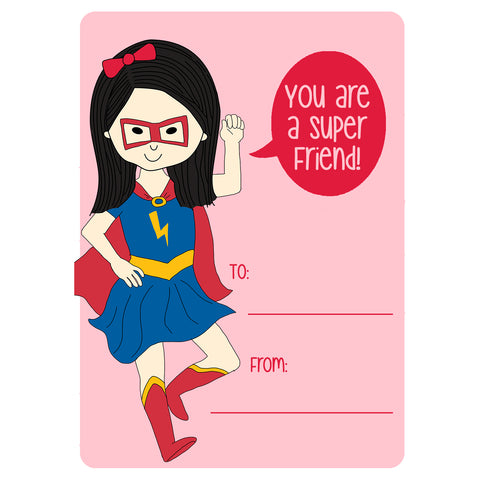 Super Girl Valentine's Day Cards