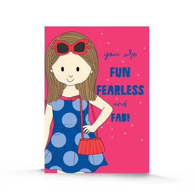 Birthday Card- Fun Fearless and Fab