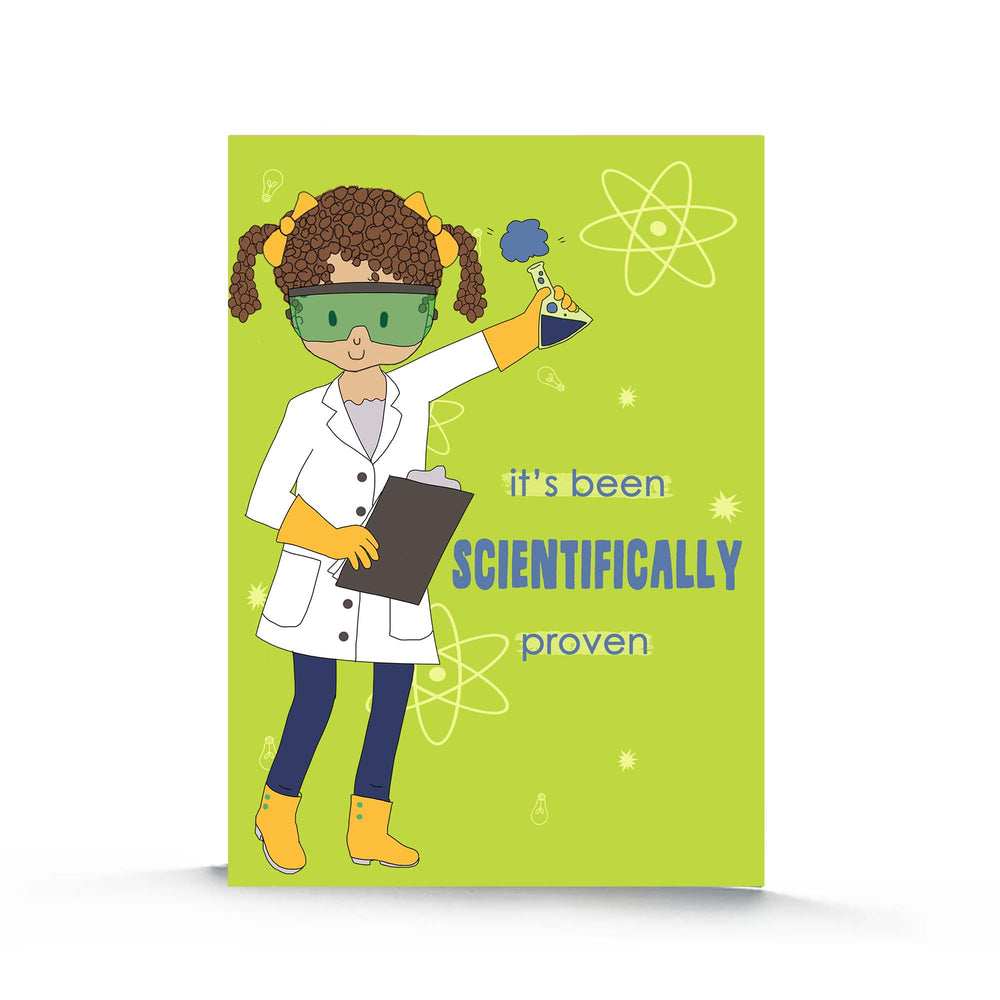 Science Girl Birthday Card