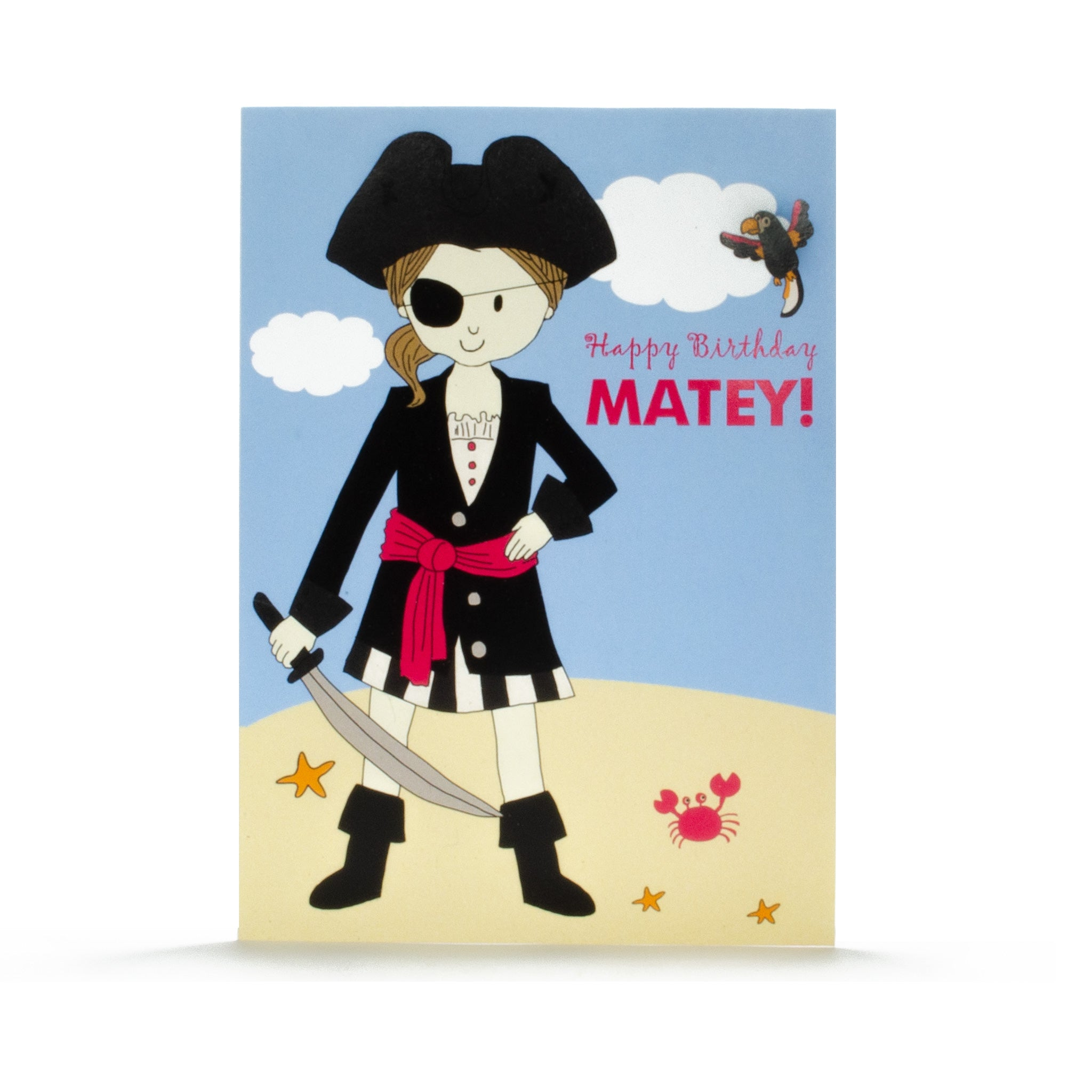 Birthday Card- Pirate Girl