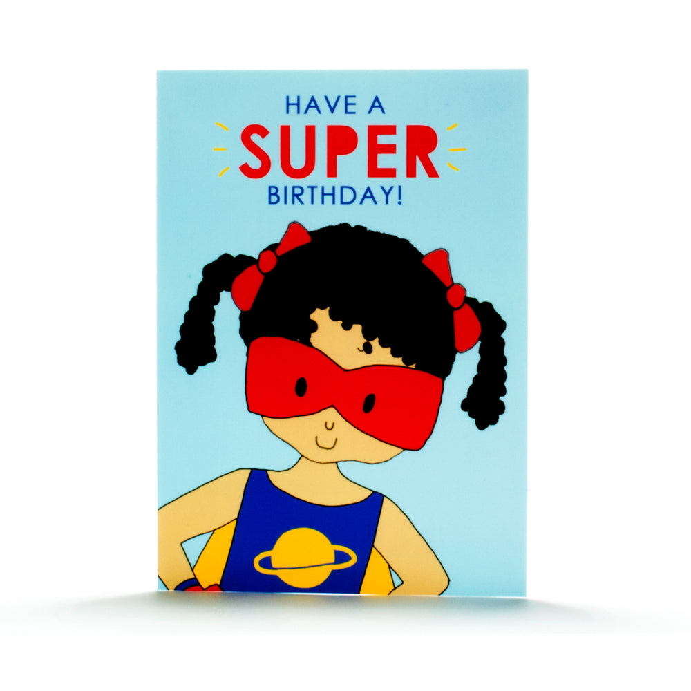 Birthday Card- Super Girl 2