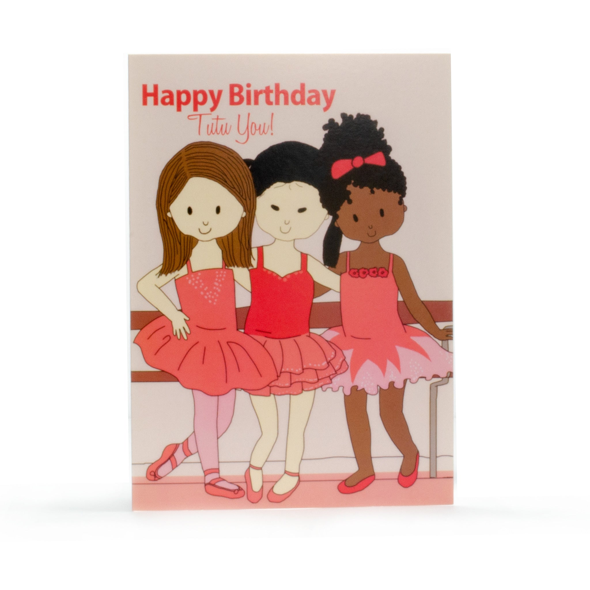 Birthday Card- 3 Ballerinas
