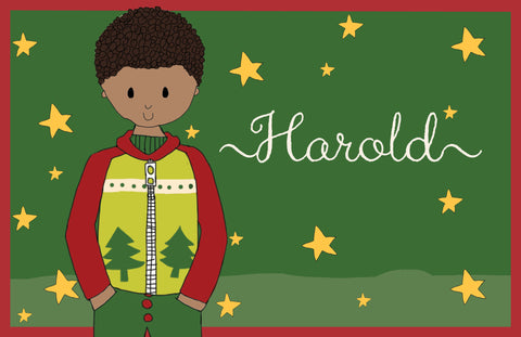 Personalized Holiday Boy Placemat