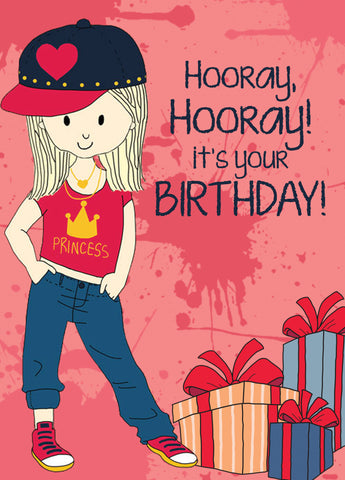 Birthday Card- Hip Hop Girl