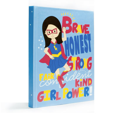 Super girl hardcover blank journal for girls