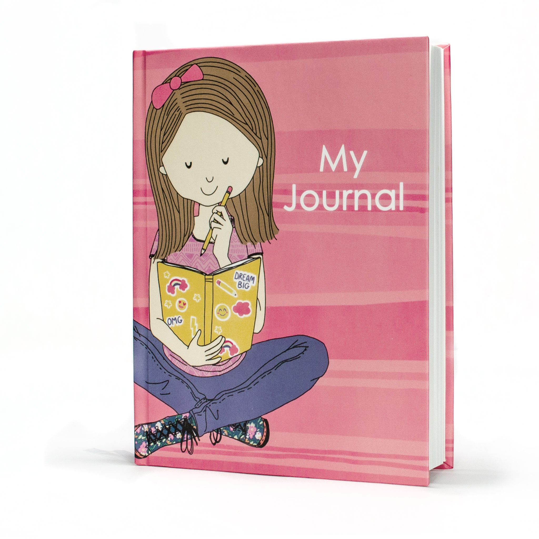 Hardcover Journal- Journaling Girl