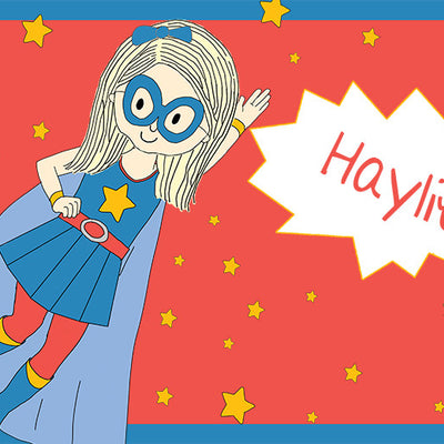 Personalized Placemat- Super Girl