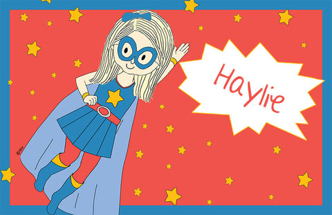 Personalized Super Girl Placemat