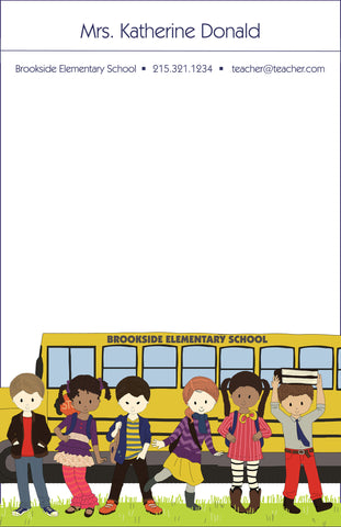 School Bus Note Pad