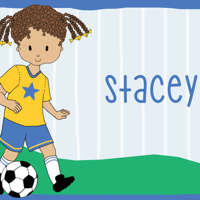 Personalized Placemat- Soccer Girl