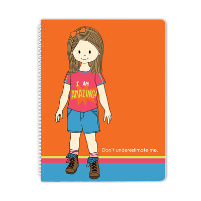 Spiral Notebook - Amazing Down Syndrome Girl