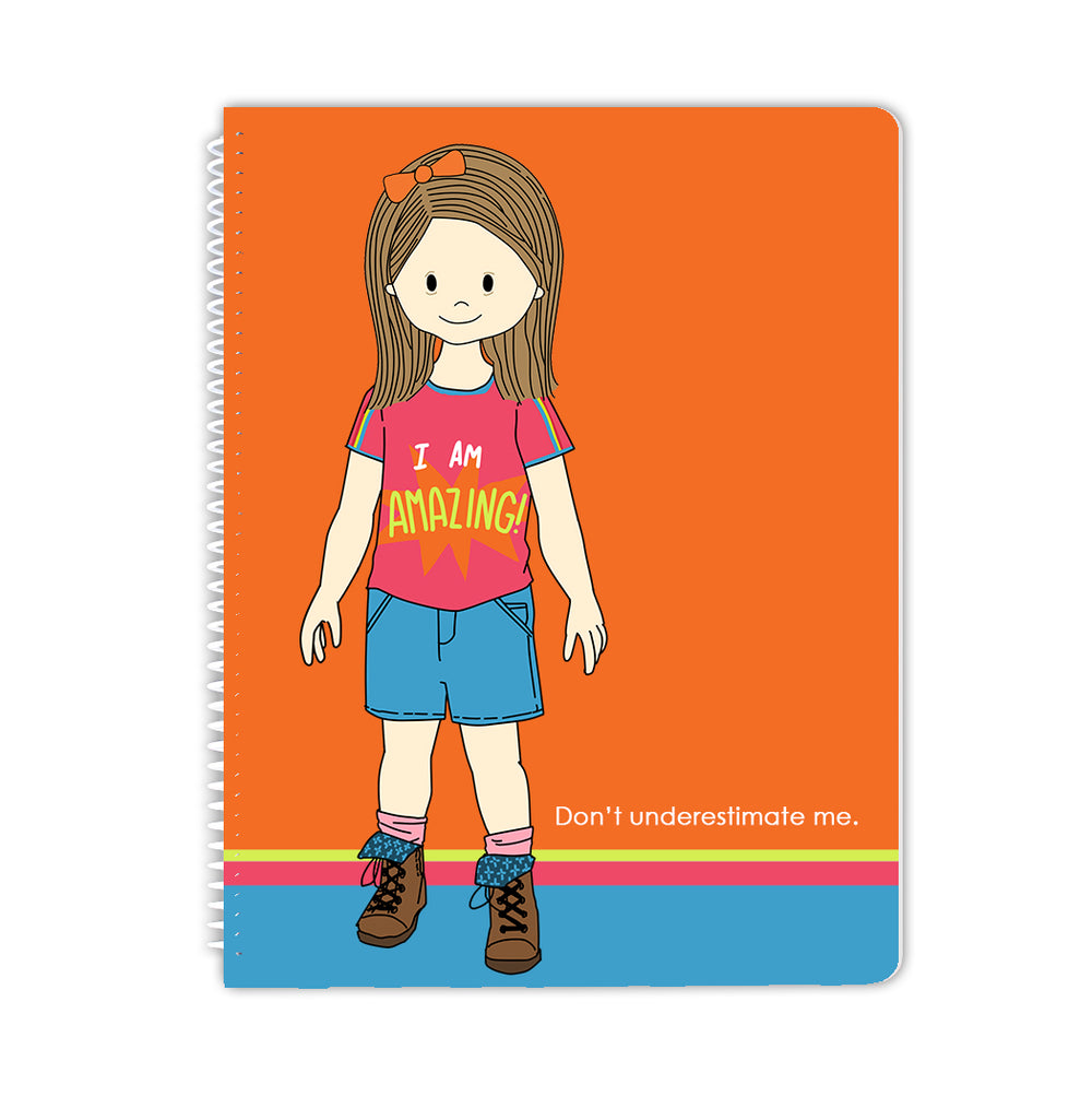 Amazing Down Syndrome Girl Spiral Notebook - Stacey M Design
