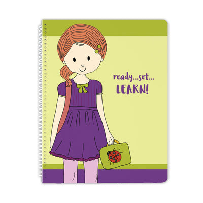 School Girl Spiral Notebook - Stacey M Design