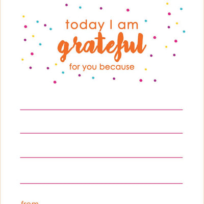 Mini Notes- Sprinkle Gratitude