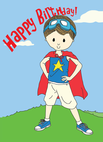 Birthday Card- Super Boy