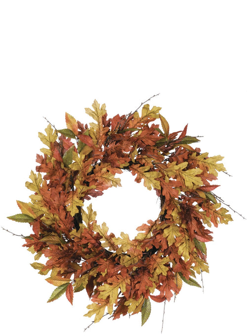 Mixed Leaf Wreath - 27""