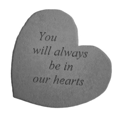 Always in Our Hearts Garden Stone
