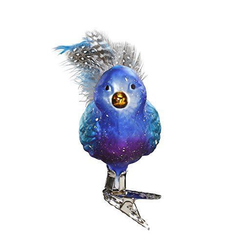 Belinda Bluebird Clip-On Ornament by Inge-Glas