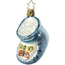 Precious Steps Baby Shoe Ornament: Swarovski Cystal Collection by Inge