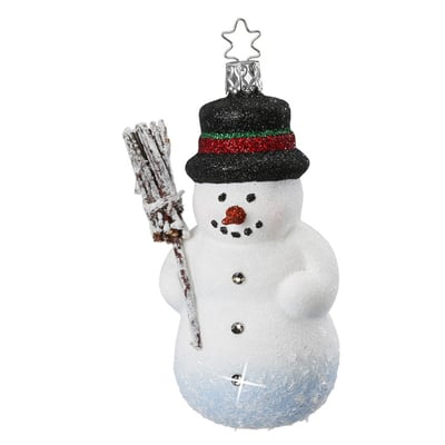 Winter's Arrival Snowman Ornament by Inge-Glas