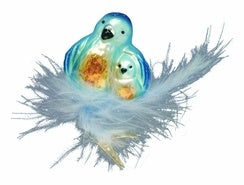 Nestled Love Bird Ornament by Inge- Glas